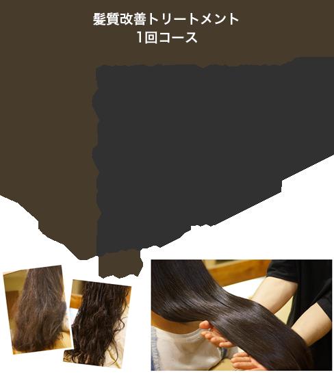 髪質改善トリートメント1回コース